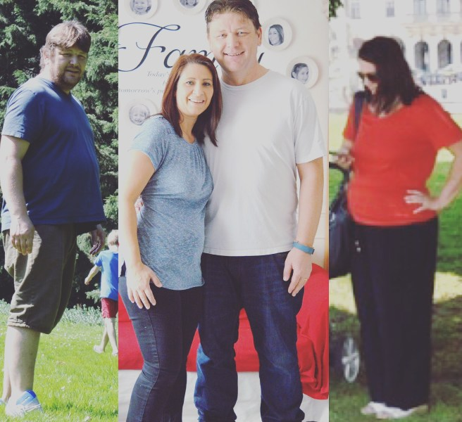 Tania and Mike Sullivan before and during