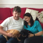 Mike and Tania with puppies