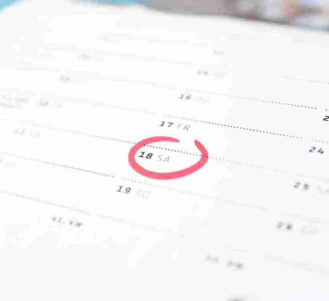 calendar weekend Saturday