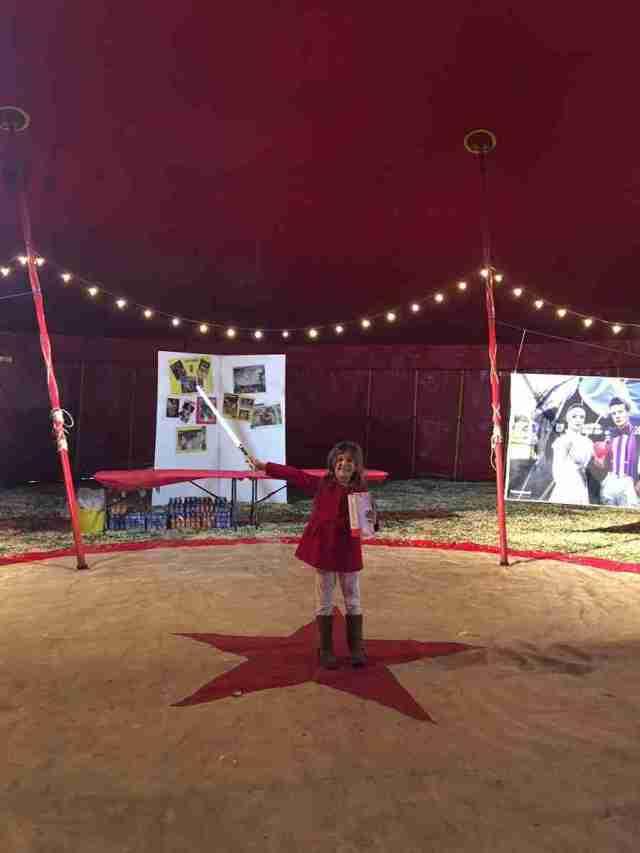 Zippos Circus Libby the Ringmaster at
