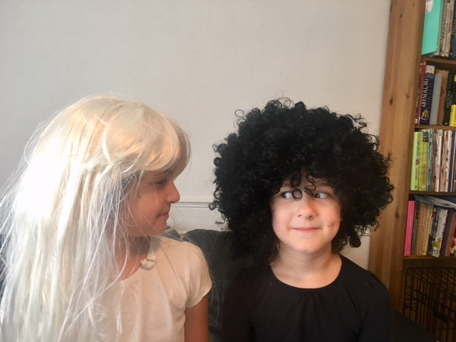 Libby and Anna Eurovision Fancy dress wigs