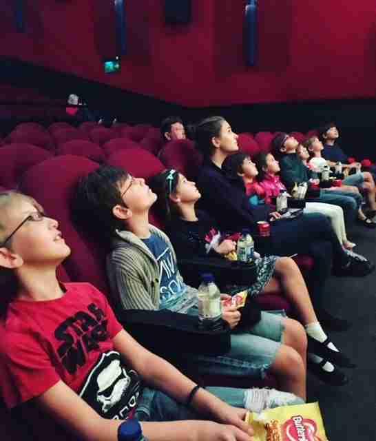 Sullivan large family cinema trip may 2018