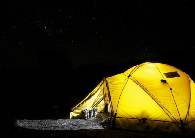 night camping tent