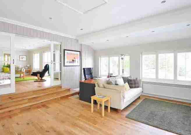 wooden floor white room
