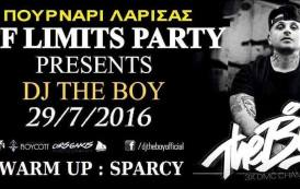 Παρασκευή 29 Ιουλίου 2016-OFF LIMITS PARTY 2016 / DJ THE BOY - SPARCY-Πουρνάρι Λάρισας