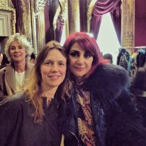 Sharon Wauchob and I at her show at salon Imperial