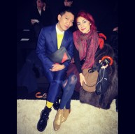 With Bryan Boy at Giambatista Valli A/F 2014 show