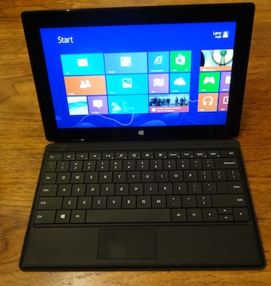 Microsoft Surface Pro with optional Type keyboard (Photo: Larry Magid)