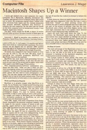 Original 1984 review of Apple Mac
