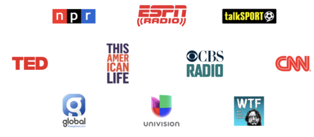 Some of TuneIn's media partners