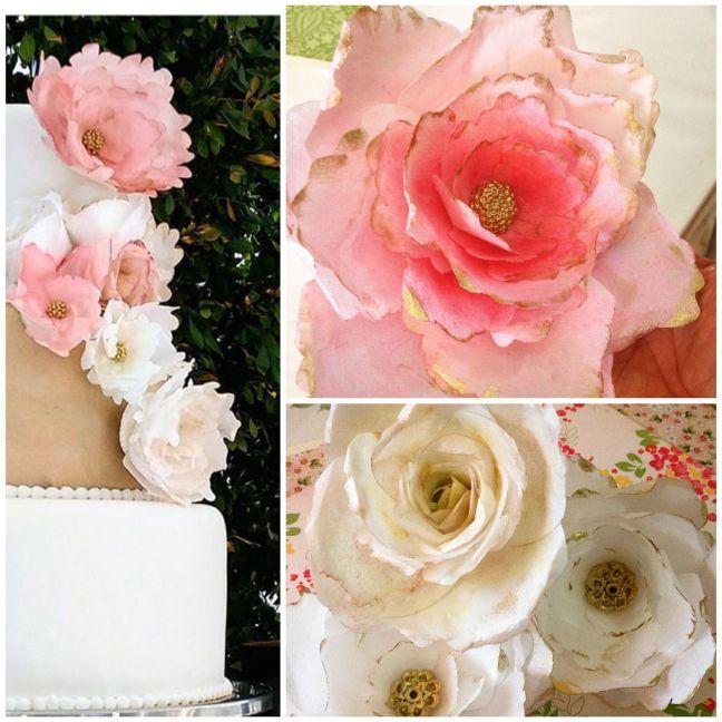 Flores-papel-comestible