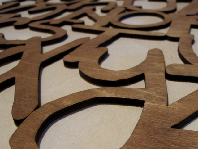 Laser cut alphabet kids wood wall hanging 2