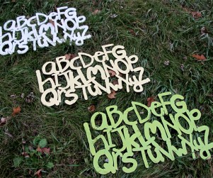 Laser cut alphabet kids wood wall hanging 3