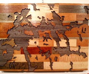 Laser cut Ontario lakes wood art prints by Dan Thompson-Walker - Print #6