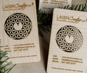 Laser Cut Wood Business Cards 1