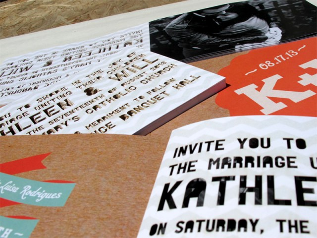 Image number three of laser cut font/letter cutout wedding invitation booklet