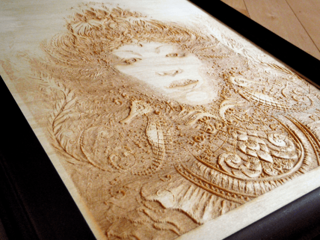 Grace of Mer by Autumn Skye Morisson laser engraved wood print