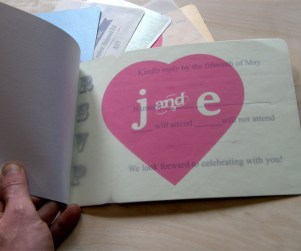 Page 3 of contemporary style laser cut wedding invitations