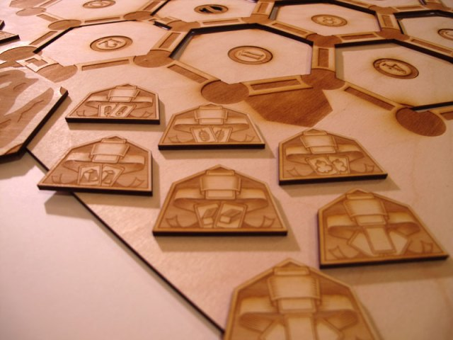 Settler of Catan custom laser cut wood game board 1