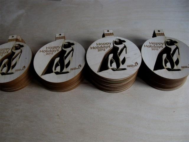 Custom laser cut Christmas card tree ornaments
