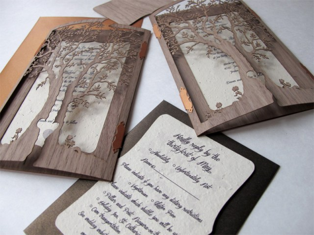 Sixth and final image of custom black chantilly lace laser cut invitation pockets or sleeves 6