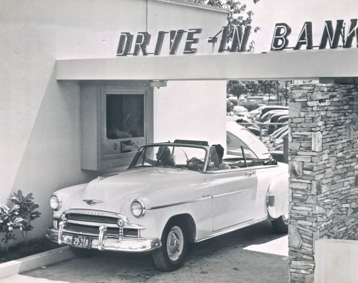 Car Drive in Bank