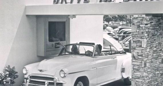 Car Drive in Bank