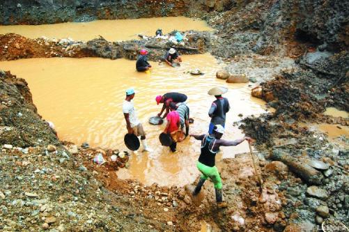 Minería ilegal Esmeraldas Ecuador. Foto: lahora.com.ec