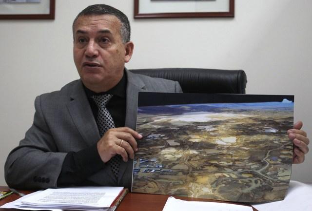 """Daniel Urresti dijo que erradicó la minería ilegal en """"La Pampa"""", Madre de Dios. Foto: Andina"""