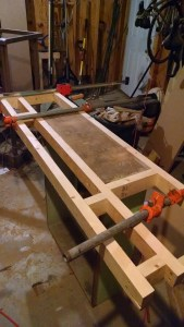 Framing out the bar top