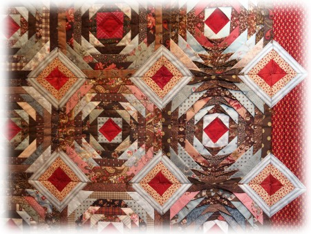 International Quilt Study Center & Museum - Pineapple variation 02 - Detail