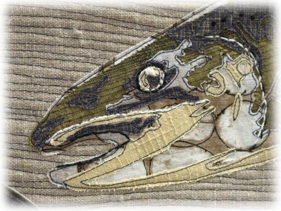 Martha Wolfe - 9 Stitches-Wild Life-Salmon - Detail 01