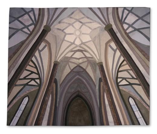 Ursula Bierbaumer-Bohle - Der Himmel von St. Stephan - 106x88