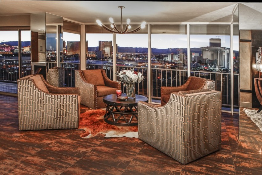 Las Vegas High Rise Living Area with View
