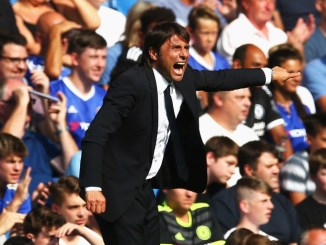LONDON, ENGLAND - AUGUST 27:  Antonio Conte, Manager of Chelsea reacts during the Premier League match between Chelsea and Burnley at Stamford Bridge on August 27, 2016 in London, England.  (Photo by Steve Bardens/Getty Images)
