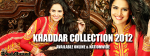 Khaddar dresses for girls 2012