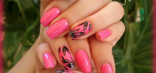 light pink nail art for girls