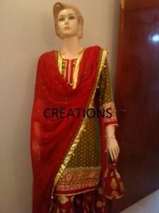 Pakistani bridal sharara