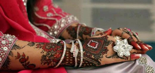 Red bridal mehndi design
