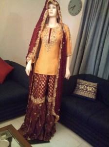 bridal sharara pakistani