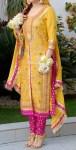 Bridal mehndi dress with choori pajama