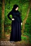 black abaya arabic style