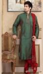 men kurta designs in green color