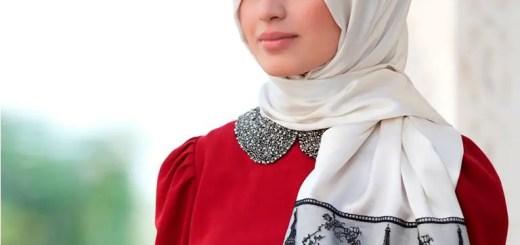 Silk hijab designs 2013