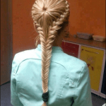 Fish tail braided long hairstyles