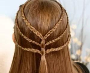 Triple-Braided-Tieback-Hairstyles-