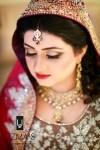 Pakitstani bridal makeup in red color