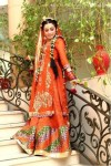 Orange bridal mehndi clothes 2013