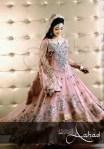Pink Pakistani walima dresses 2013