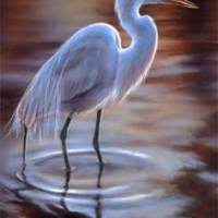 Miniature of a Great Egret